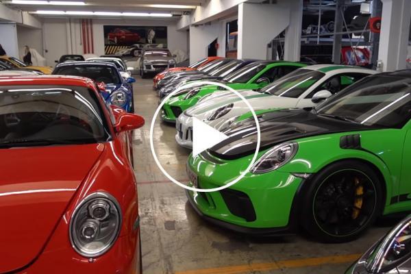 Porsche's Museum Storage Garage…