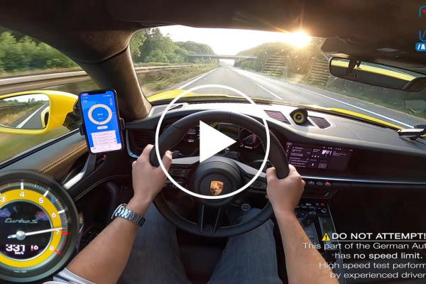 Watch A 2021 Porsche 911 Turbo S Hit 206 MPH On The Autobahn
