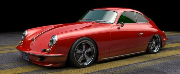 1965 Porsche 356 Restomod Rendered Onto…
