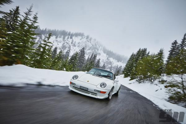 Porsche 993 GT2 test drive: snow time