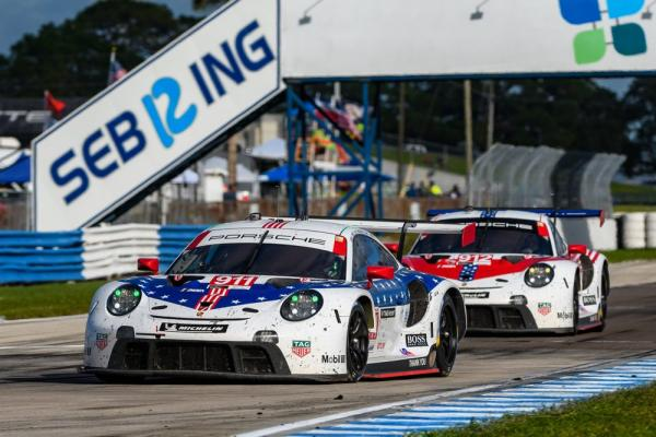 Porsche scores one-two victory in the 2020 Sebring 12H