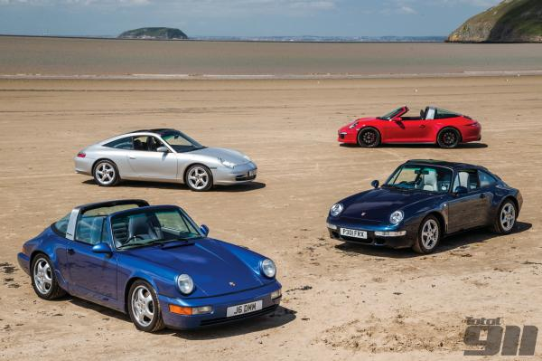Evolution of the Porsche 911 Targa