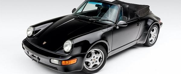 photo of Black Over Black 1992 Porsche 911 Roadster Is a Rare America Special image