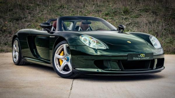 Dark Olive Green Porsche Carrera GT Is A…