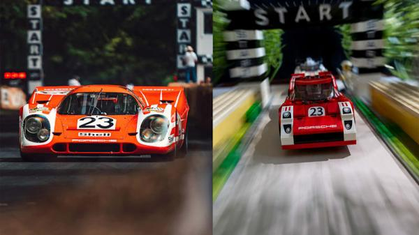 photo of These iconic Porsche photos re-created through Legos are mesmerizing image