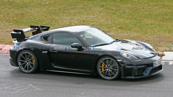 photo of Porsche Cayman GT4 RS Spied With Different Parts At Nurburgring image