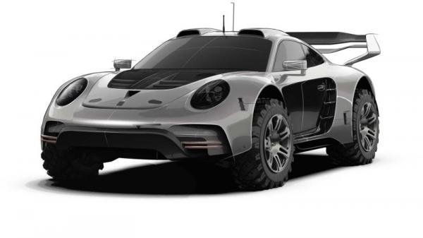 German tuner Gemballa building Porsche 911 monster truck mutant mash-up