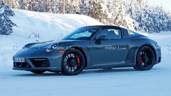 photo of Porsche 911 Targa GTS Spied Hiding Refreshed Interior image