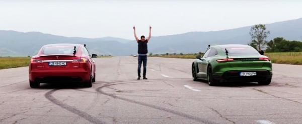 photo of Porsche Taycan Turbo S V Tesla Model S P100D: the Only EV Drag Race That Matters image